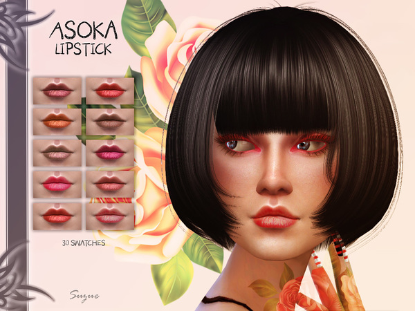 Sims 4 Asoka Lipstick N5 by Suzue at TSR