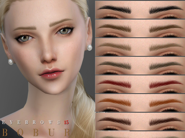 Sims 4 Eyebrows 15 by Bobur3 at TSR