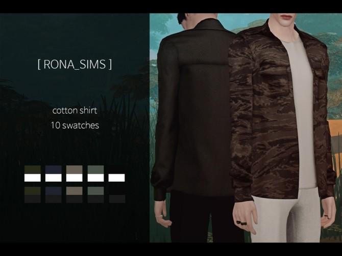 Cotton shirt at Rona Sims image 6813 670x503 Sims 4 Updates