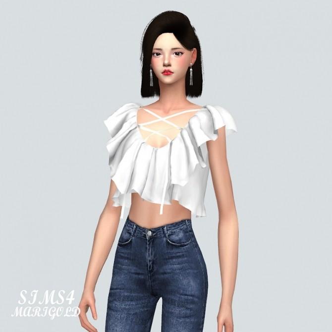 Marymory Frill Crop Top at Marigold image 699 670x670 Sims 4 Updates