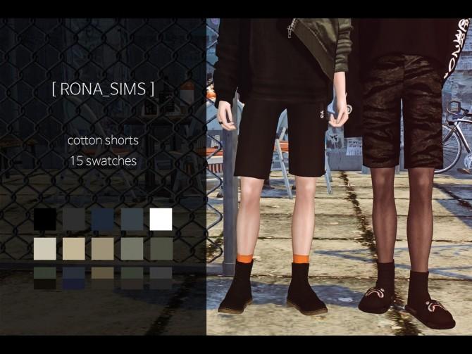 Sims 4 Cotton shorts at Rona Sims