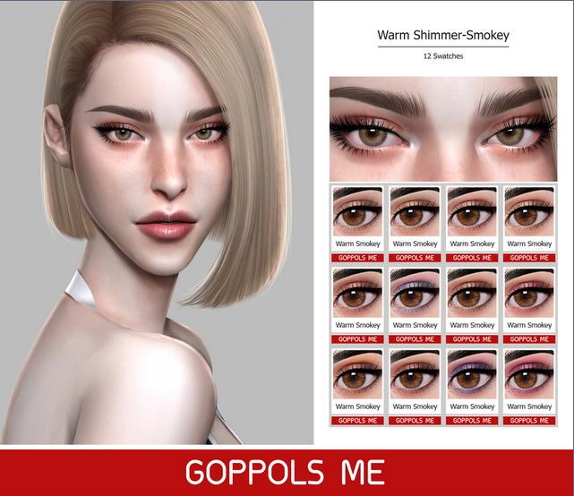 GPME Warm Shimmer Smokey Eyeshadow at GOPPOLS Me image 707 Sims 4 Updates