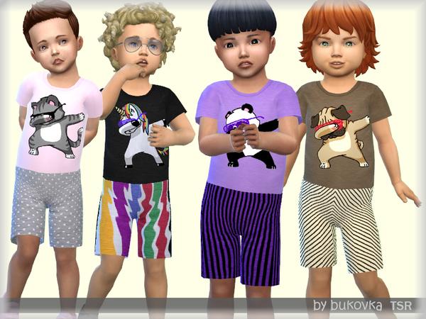 Sims 4 Overalls Baby Boy by bukovka at TSR