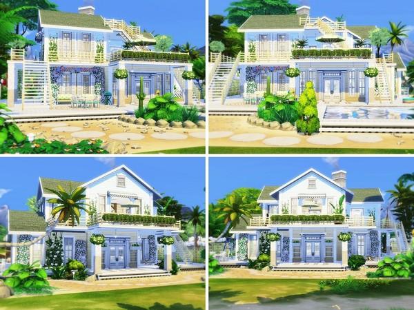 Sims 4 Beach Family Retreat by MychQQQ at TSR
