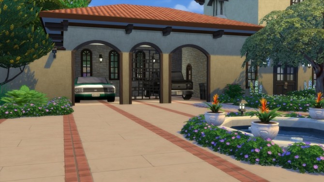Mediterranean Mansion at ShojoAngel image 7114 670x377 Sims 4 Updates