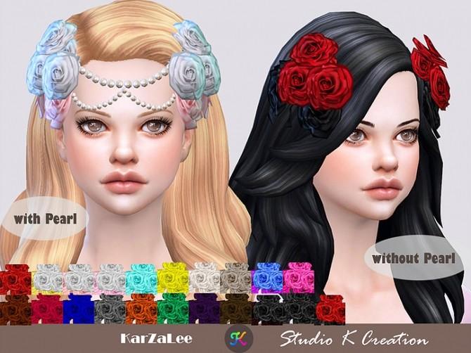 Roses headpiece at Studio K Creation image 7118 670x502 Sims 4 Updates