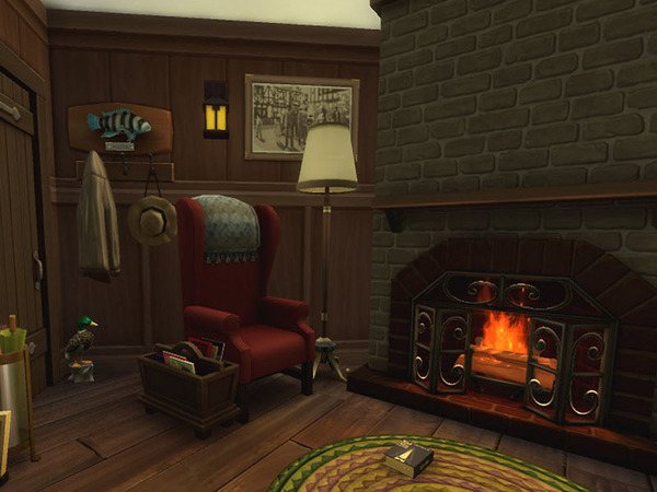 Sims 4 Cabin in the woods by residentsim at TSR