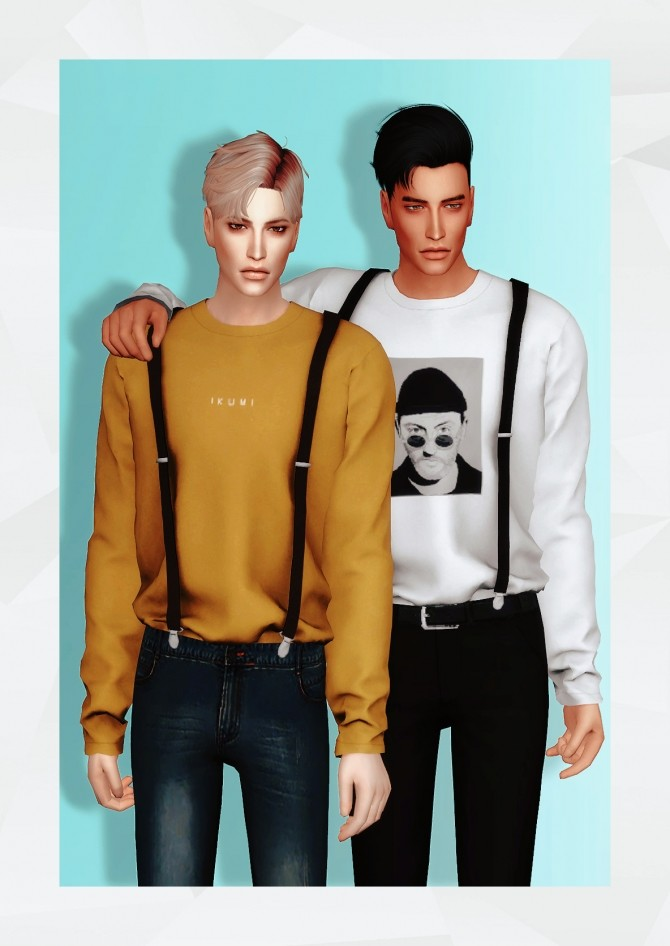T Shirt with Suspender at Gorilla image 716 670x946 Sims 4 Updates