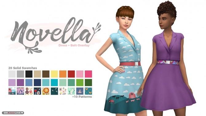 Novella dress at SimLaughLove image 721 670x380 Sims 4 Updates