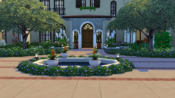 Sims 4 Mediterranean Mansion at ShojoAngel