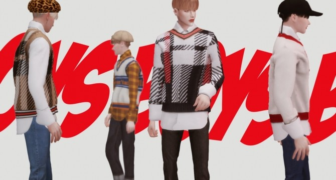 Boys knit shirts set at Kiro image 7218 670x359 Sims 4 Updates