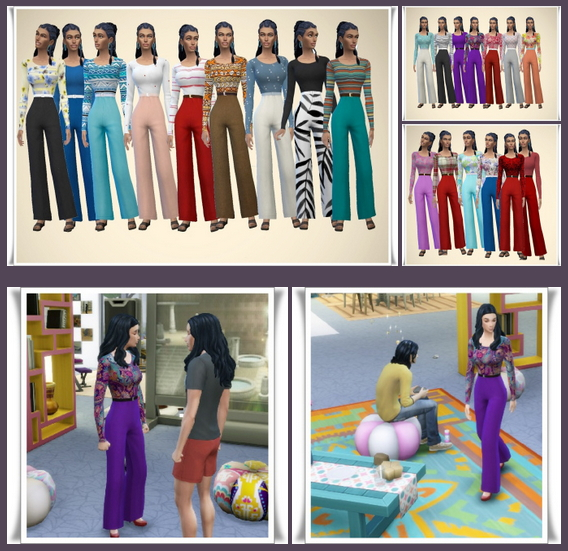 Ladys Trouser Suit at Birksches Sims Blog image 722 Sims 4 Updates