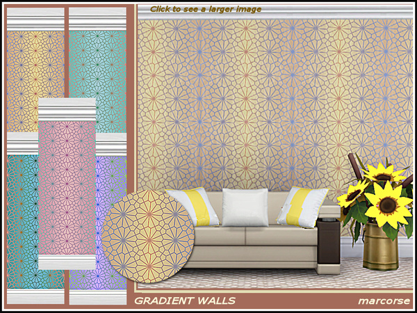 Gradient Walls by marcorse at TSR image 728 Sims 4 Updates