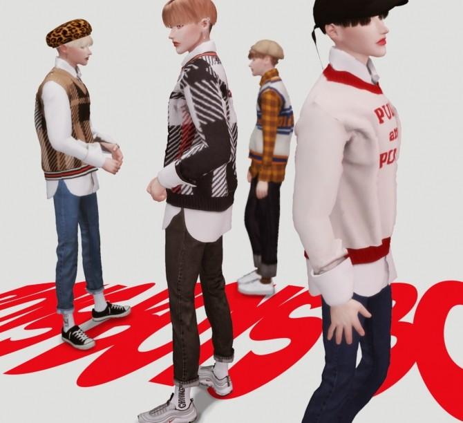 Boys knit shirts set at Kiro image 7317 670x612 Sims 4 Updates