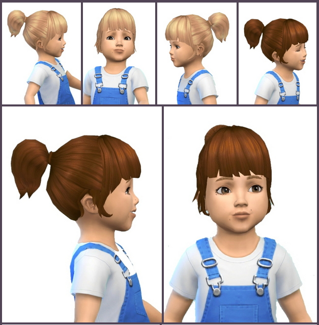Sims 4 Just PonyTail for Toddler at Birksches Sims Blog