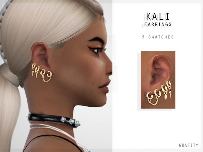 Sims 4 KALI EARRINGS at Grafity cc