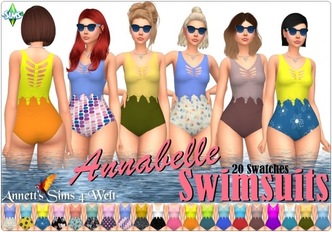 Sims 4 Annabelle swimsuits at Annett's Sims 4 Welt
