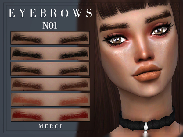 Eyebrows N01 by Merci at TSR image 740 Sims 4 Updates