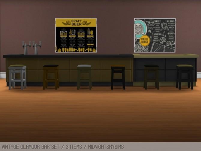 Sims 4 Vintage glamour bar set at Midnightskysims