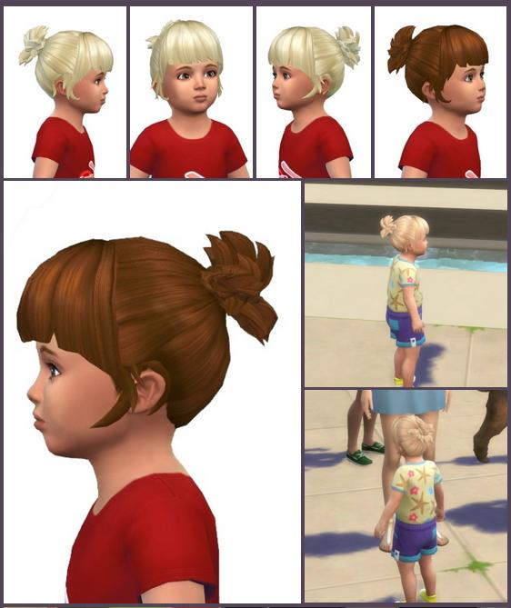 Sims 4 Wings Ponytail Toddler at Birksches Sims Blog