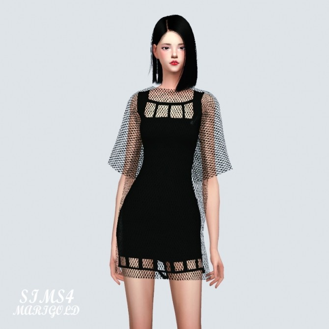 Sims 4 Square Mini Dress at Marigold