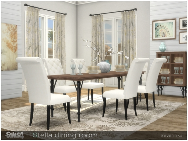 Stella diningroom by Severinka at TSR image 757 Sims 4 Updates