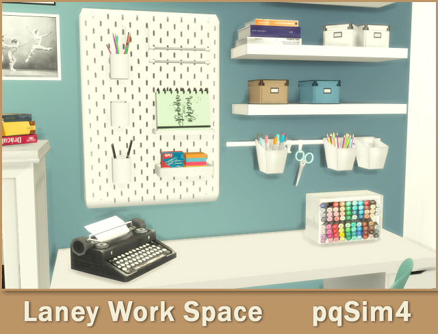 Lanei Work Space at pqSims4 image 7619 Sims 4 Updates