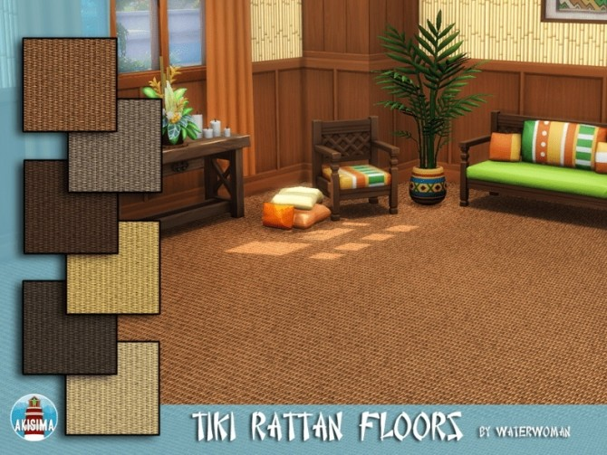 Sims 4 Tiki Themed Build Set by Waterwoman at Akisima