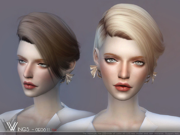 Hair OE0912 by wingssims at TSR image 777 Sims 4 Updates