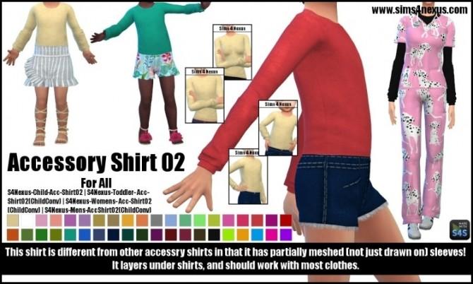 Accessory Shirt 02 by SamanthaGump at Sims 4 Nexus image 784 670x402 Sims 4 Updates