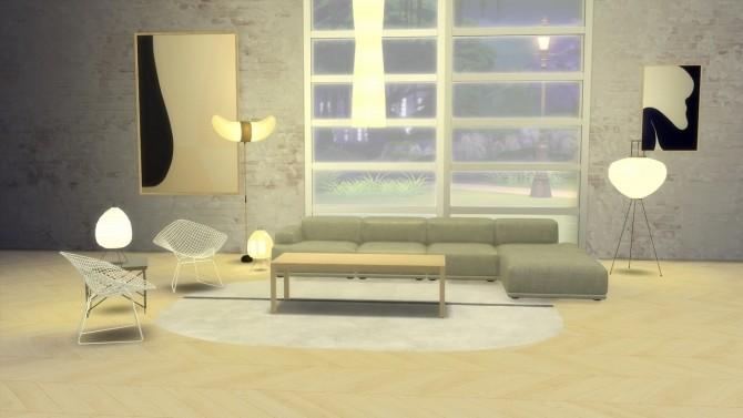 Sims 4 AKARI LIGHT SCULPTURES at Meinkatz Creations