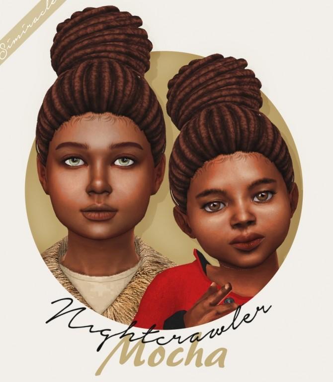 Sims 4 Nightcrawler Mocha hair kids and toddlers at Simiracle