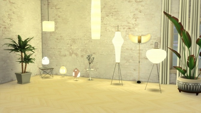 AKARI LIGHT SCULPTURES at Meinkatz Creations image 797 670x377 Sims 4 Updates