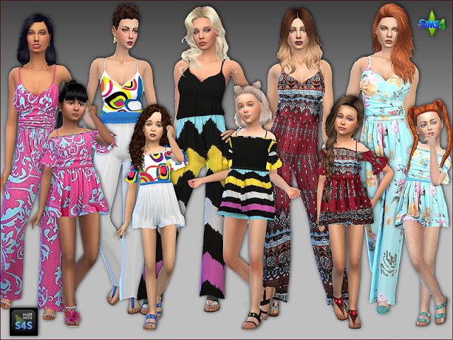 Sims 4 5 Jumpsuits by Mabra at Arte Della Vita