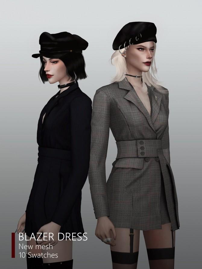 Sims 4 Blazer dress at Rona Sims
