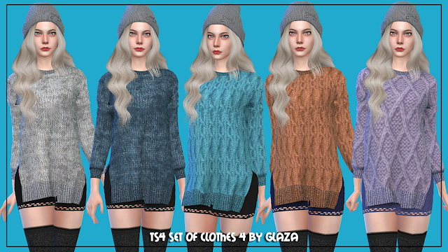 Sims 4 Set of clothes 4 at All by Glaza