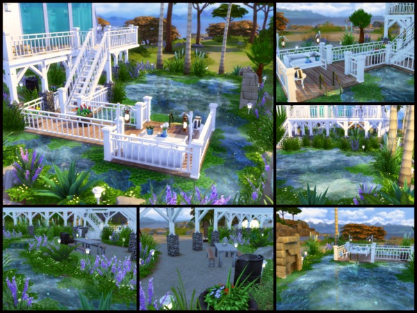 Sims 4 Sea Salt family home by sparky at TSR