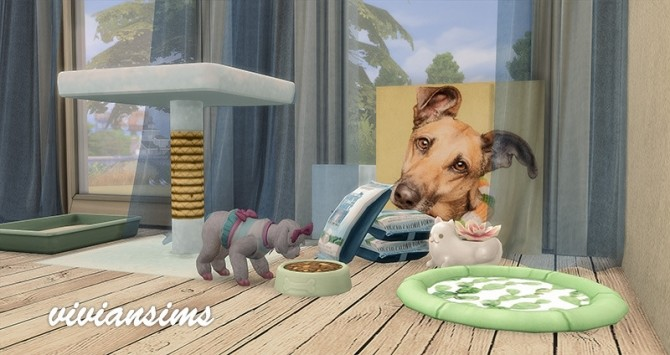 Cats and Dogs mesh recolor 7 objects at Viviansims Studio image 818 670x355 Sims 4 Updates