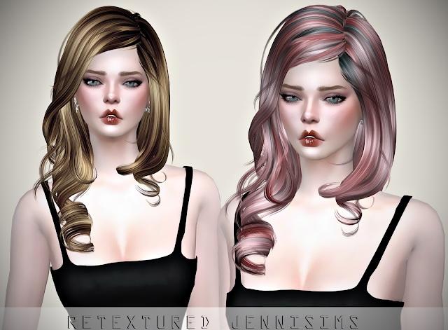 Sims 4 Newsea MoreThan Honey Hair retexture at Jenni Sims