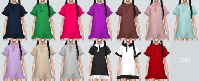 Sims 4 Frill Pk Dress at Marigold