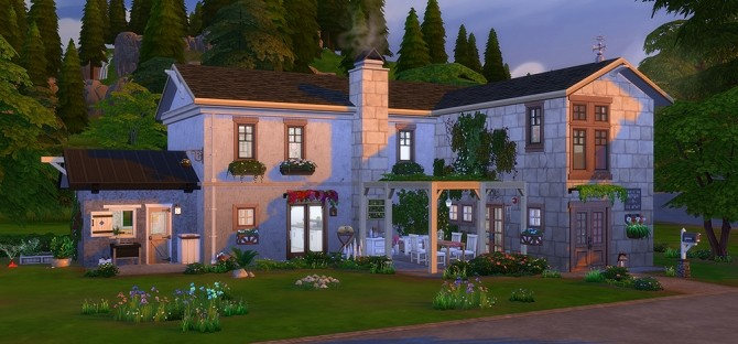 Sims 4 Foyer Chaleureux house at Simsontherope