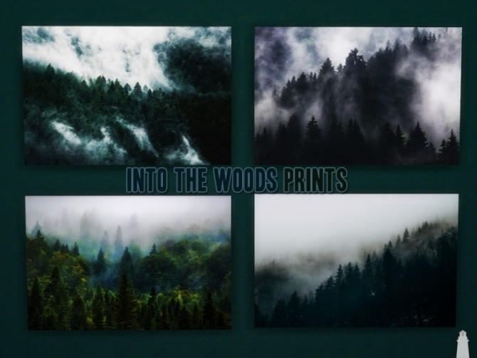 Sims 4 Into The Woods Prints by Waterwoman at Akisima
