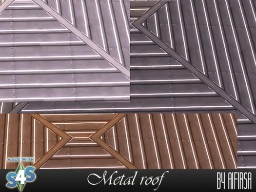 Sims 4 Metal roof at Aifirsa