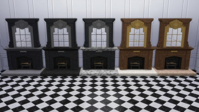 Dark Lux Fireplace with Mirror from TS3 by TheJim07 at Mod The Sims image 855 670x377 Sims 4 Updates