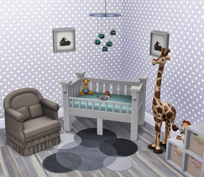 Sweet lullabies nursery set at RENORASIMS image 8610 670x581 Sims 4 Updates