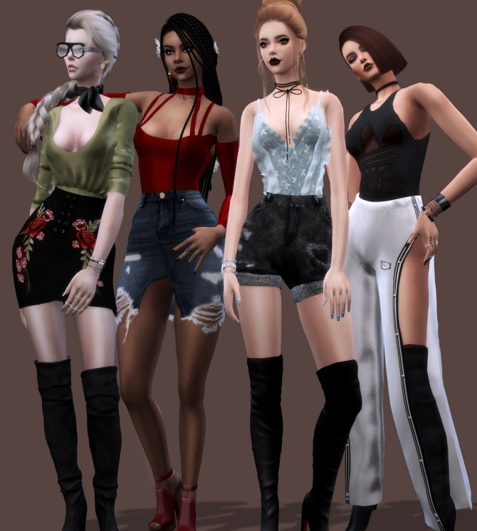 Sims 4 Bodysuits Collection by Liseth Barquero at BlueRose Sims