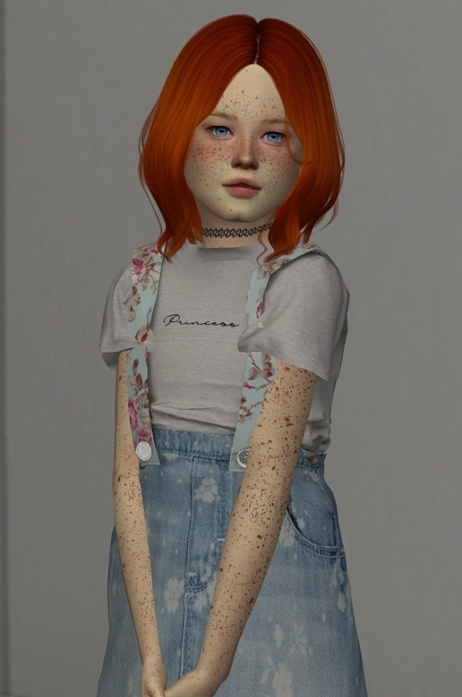 Cazy Harper Hair Kids And Toddler Version At Redheadsims