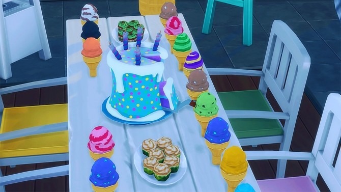 Sims 4 Fortnite Birthday Cake at Josie Simblr