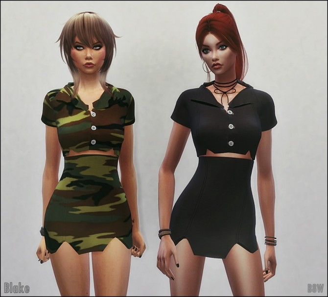 BLAKE OUTFIT at Blue8white image 888 670x606 Sims 4 Updates