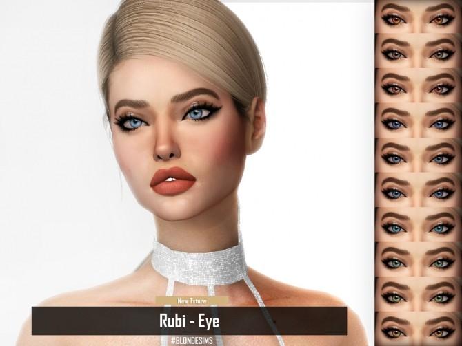 Sims 4 BLONDESIMS RUBI EYES at REDHEADSIMS